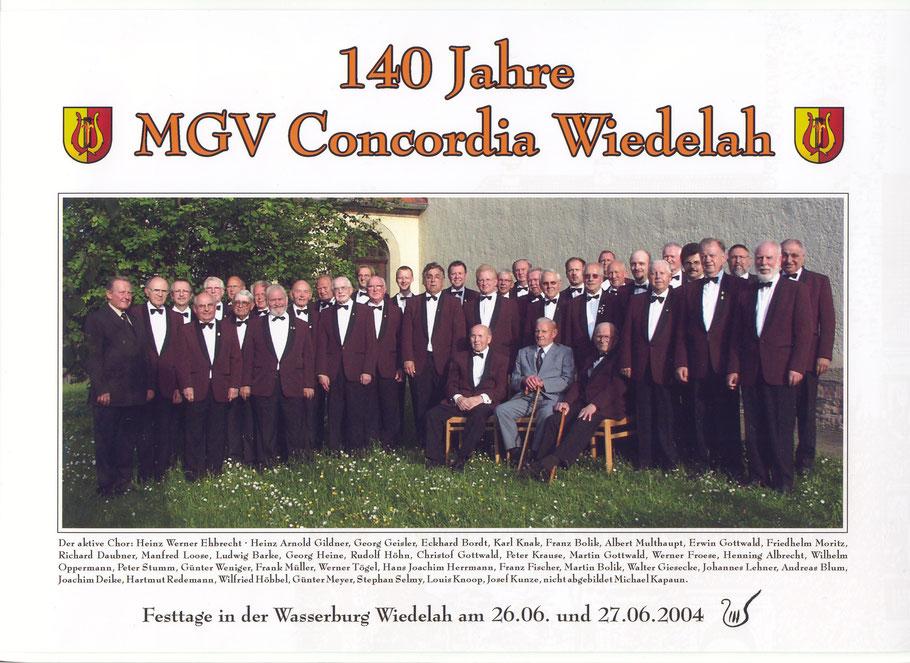 Gruppenbild zum 140. Jubiläum 2004