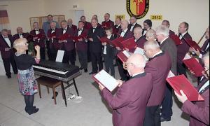 Singen zur Weihnachtsfeier 2013