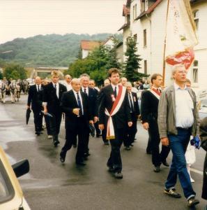 Großer Festumzug zum 125 - jährigen Jubiläum 1989